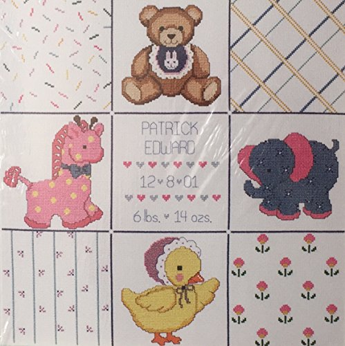 Baby's Friends Birth Announcement # 08-158 Janlynn Counted Cross Stitch Kit, Discontinued by Manufacturer. 2001