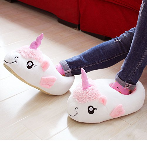 Rainbow Fox Zapatillas de estar por casa con peluche de unicornio para adulto talla europea: 36-41 2017 new