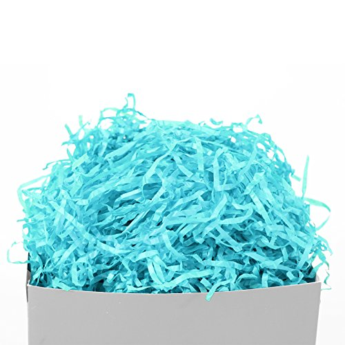 GIFT EXPRESSIONS Light Blue Paper Shred for Gift Package Filler and Kraft, Cut Paper Filler for Gift Wrapping & Basket Filling, Perfect for Stuffing Gift Bags (Light Blue)