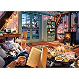 "Ravensburger Cozy Retreat 500 Piece Large Format Jigsaw Puzzle for Adults - Every Piece is Unique, Softclick Technology Means Pieces Fit Together Perfectly, Multi, 27"""" x 20"""""""