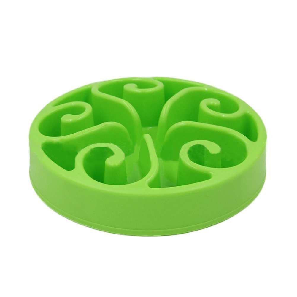Slow Feeder Bowl, Dog Puzzle Maze Feeder Interactive Fun Feeder Food Water Dish Bowl for Dog Weight loss Prevent Pet choke by Wusjyeda (Green)