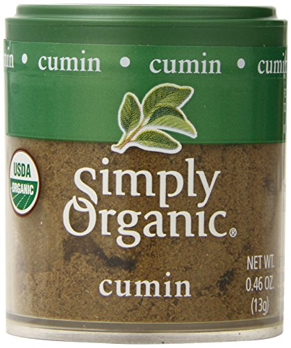 Simply Organic Cumin Seed Ground Certified Organic, 0.46-Ounce Containers (Pack of ()