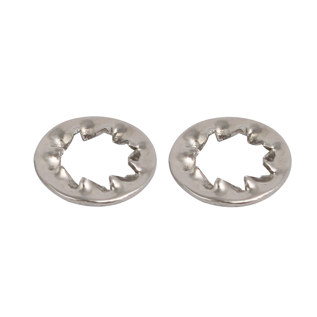 sourcingmap 4mm de di/ámetro interior Arandea dentada interna de acero inoxidable 304 gris 50pcs
