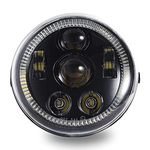Z-OFFROAD 2019 New Version LED Headlight with Halo DRL for Harley Davidson VRod V-Rod VRSCA VRSCF, Black