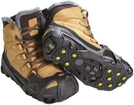 ICETRAX Pro Tungsten Grip Winter Ice Cleats para zapatos y botasIce Grips para nieve y hielo StayON Toe Reflective Heel LXL Hombres 9513Mujeres 11