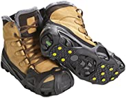 ICETRAX Pro Tungsten Grip Winter Ice Cleats for Shoes and Boots - Ice Grips for Snow and Ice, StayON Toe, Refl