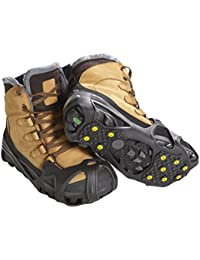 Pro Winter Ice Grips for Shoes and Boots - Ice Cleats for Snow and Ice, StayON Toe, Reflective Heel