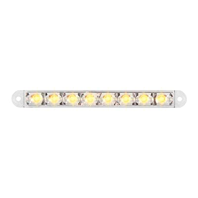 """GG Grand General 74761 Light Bar (6-1/2"""" Pearl Amber/Clear 8LED, 3 Wires): Automotive"""