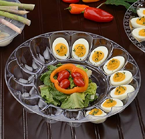 25 Pieces 12'' - 24 Slot Egg Tray Egg Trays Heavy Duty Disposable Devilled Egg Platters in Bulk