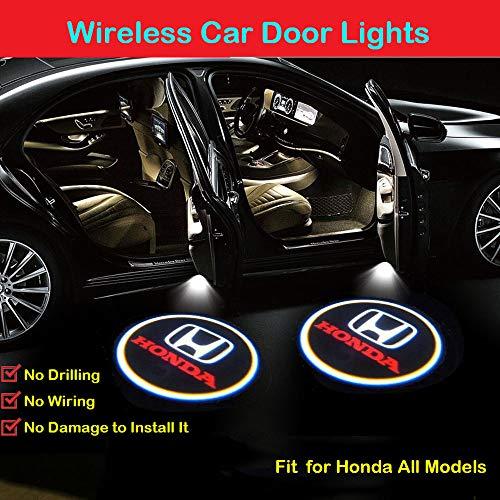 2Pcs for Honda Car Door LED Projector Lights, Car Door Projector Welcome Lights,Wireless Car Door Led Projector Lights for Honda All Models (Honda Logo Car)
