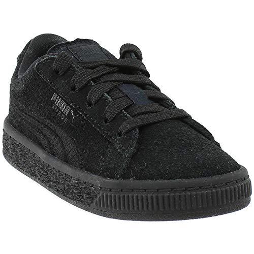 (PUMA Baby Suede Classic Badge Kids Sneaker, Black, 5 M US Toddler )