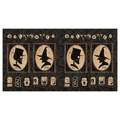Clothworks Halloween Fabric (Clothworks Pick Your Poison 24'' Panel Black)