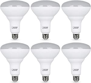 "Feit Electric BR40DM/10KLED/2/3 65W-Equivalent 13 Watt BR40 Dimmable Reflector LED Light Bulb, 6.3"" H x 5"" D, 2700K Soft White, 6 Piece"