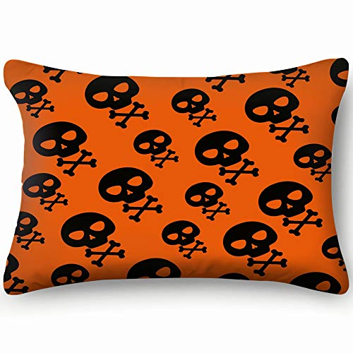 (best bags Happy Halloween Skull Bones Anatomy Holidays Throw Pillow Case Cushion Cover Double Side Design 20