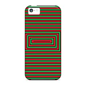 High Impact Dirt/shock Proof Case Cover For Iphone 5c (mindtrick Red Green)