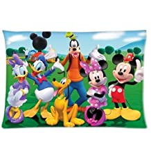 Cartoon Custom Mickey Mouse Club House Cute Pillowcase Soft Zippered Throw Pillow Cover Cushion Case Covers Fasfion Design Two Sides Printed 16x24 Pillows