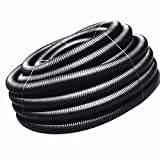 ADS 3-in x 50-ft Corrugated Solid Pipe, Durable HDPE Plastic Drainage