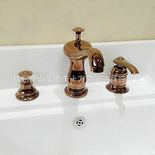 WYMBS Bathroom basin faucet furniture decoration creative gift copper bathroom basin mixer bath tap rose gold color chic