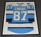 Sidney Crosby Signed Framed Pittsburgh Penguins Blue Jersey JSA