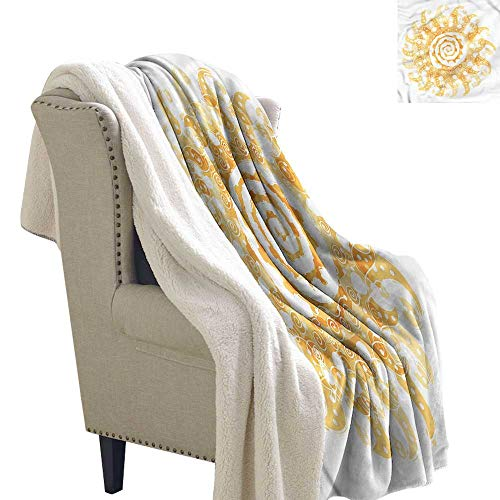 Beihai1Sun Abstract Blanket Small Quilt Sun with Swirls Pattern Degrees of Comfort Weighted Blanket 60x78 ()