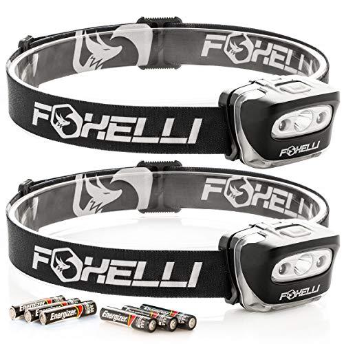 Foxelli Headlamp Flashlight 2 Pack Lightweight product image