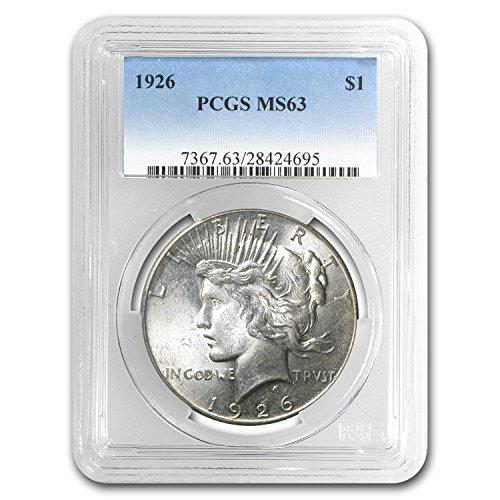 1926 Peace Dollar MS-63 PCGS $1 MS-63 PCGS (Peace Dollar Pcgs)