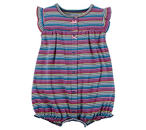 Carter's Baby Girls' Multi Striped Snap up Cotton Romper 3 Months