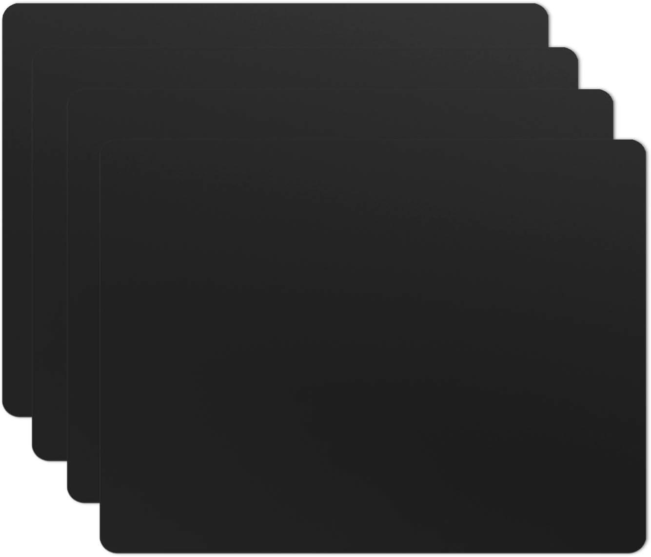SiliconePlacemats,Food-GradeNon-SlipWaterproof,Dining,StainResistant,CountertopProtector,KitchenCounterMat,HeatResistant,Bakingmat DishwasherSafe (15.7x11.8Inch-4pack, Black)
