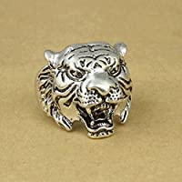 Nongkhai shop Size 8-10 Alloy Ring Men Leopard Men Punk Steam Black Leopard Cool Tiger Rings (8)