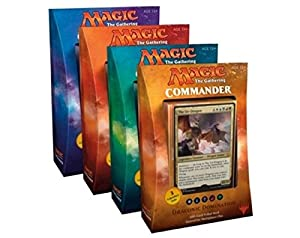 Magic the Gathering (MTG): 2017 Commander SET OF ALL 4 DECKS SEALED (Feline Ferocity, Vampiric Bloodlust, Draconic Domination, Arcane Wizardry) Plus Ace Syndicate Premium Gift of 30x9 Pocket Card Collector Pages