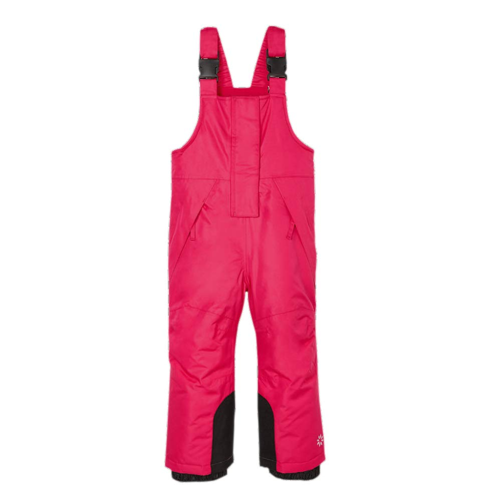 UDIY Kids Insulated Bib Overalls Waterproof Snow Bibs, Hot Pink, 2-3 Years by UDIY