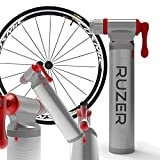 RUZER PRO Co2 PUMP Inflator Nitros or GAS INTEGRATED Cartridge Storage Canister for PRESTA SCHRADER use on MTB mountain Road HYBRID RACE Bike bicycle NO c02 CARTRIDGE INCLUDED!