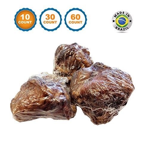 123 Treats - Dog Bones Knee Caps (10 Count) 100% Natural & Long Lasting Beef Chews for Dogs Grass Fed Savory Beef Bone Treats for Pets - Varied Sizes Ideal for Small & Large Dogs