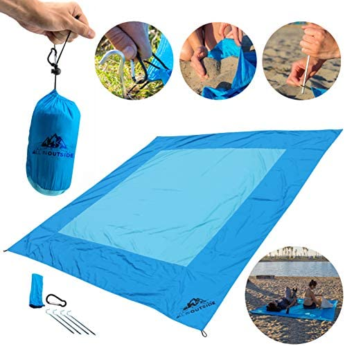 Blue Beach Blanket Water Resistant