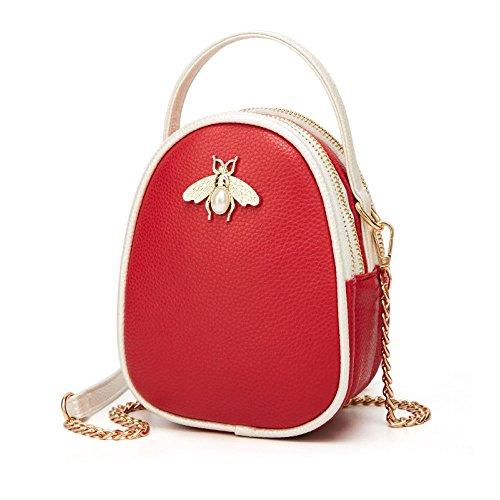 Sac Bandoulière Mini Sauvage Sac Des Sacs Mode Dos D'épaule Femmes à Red Sac Simple De Partie De Main Sac à à 1ZqwTqz