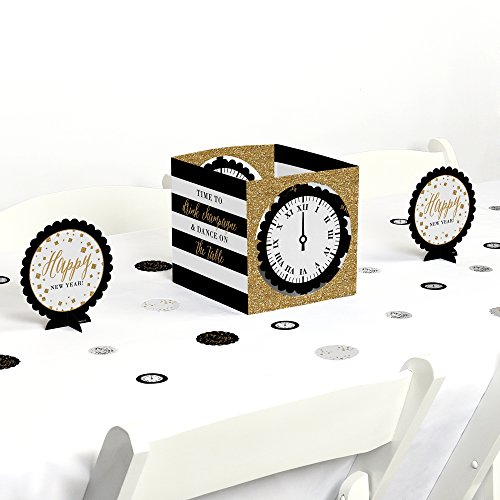 Big Dot of Happiness New Year's Eve - Gold - New Years Eve Party Centerpiece & Table Decoration Kit