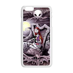 Generic Custom Cartoon Movie The Nightmare Before Christmas Skull Sally Halloween Printed White Case For iphone4 4s 5.5 Inch 100% Plastic