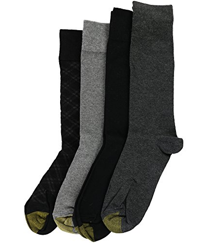 Goldtoe Mens 4 Pair Socks Argyle design Sock Size 10-13 Shoe Size (Calf Western Dress Socks)