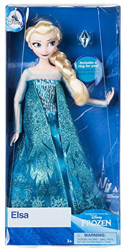 Disney Store Elsa Classic Doll with Ring - Frozen - 11 1/2'' 2018 Version (Elsa Disney Store Classic Doll)