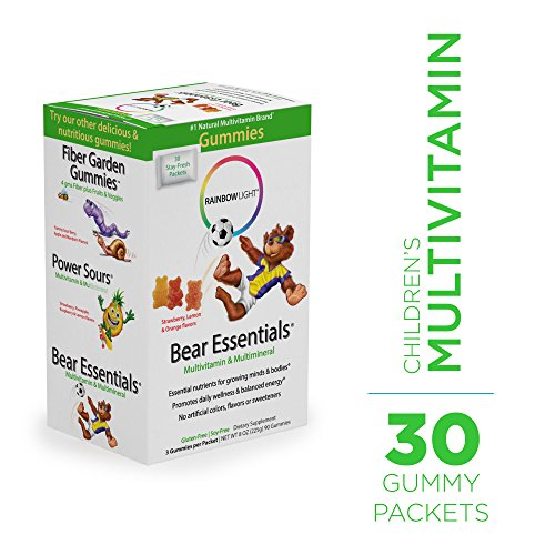 Essential Multivitamin - Rainbow Light - Bear Essentials Multivitamin and Mineral - Supports Immunity and Healthy Bone and Muscle Development in Kids - 30-Pack Box
