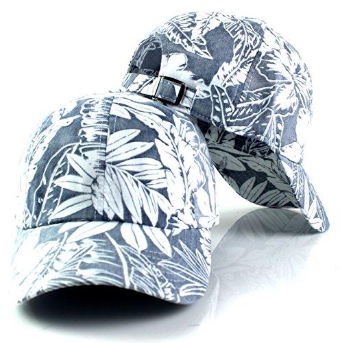 American Needle Hawaii Floral Pattern Slouch Cotton Twill Adjustable Cap (Navy) (Hawaiian Football Shirt)