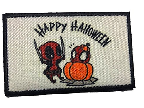 Deadpool Movie Morale Patch Tactical Happy Halloween]()