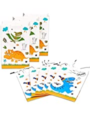 WERNNSAI Dinosaur Gift Bag – 16 Pack Paper Party Bags for Kids Boys Birthday Baby Shower Party Supplies Favor Treat Goodie Bags with Handle