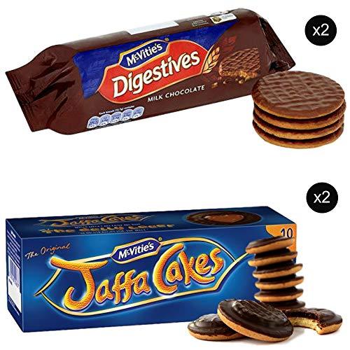 Chocolate Biscuit Cake - McVities Jaffa Cakes Two Boxes + McVities Chocolate Digestive Biscuits Two Packets - British Chocolate Cookies