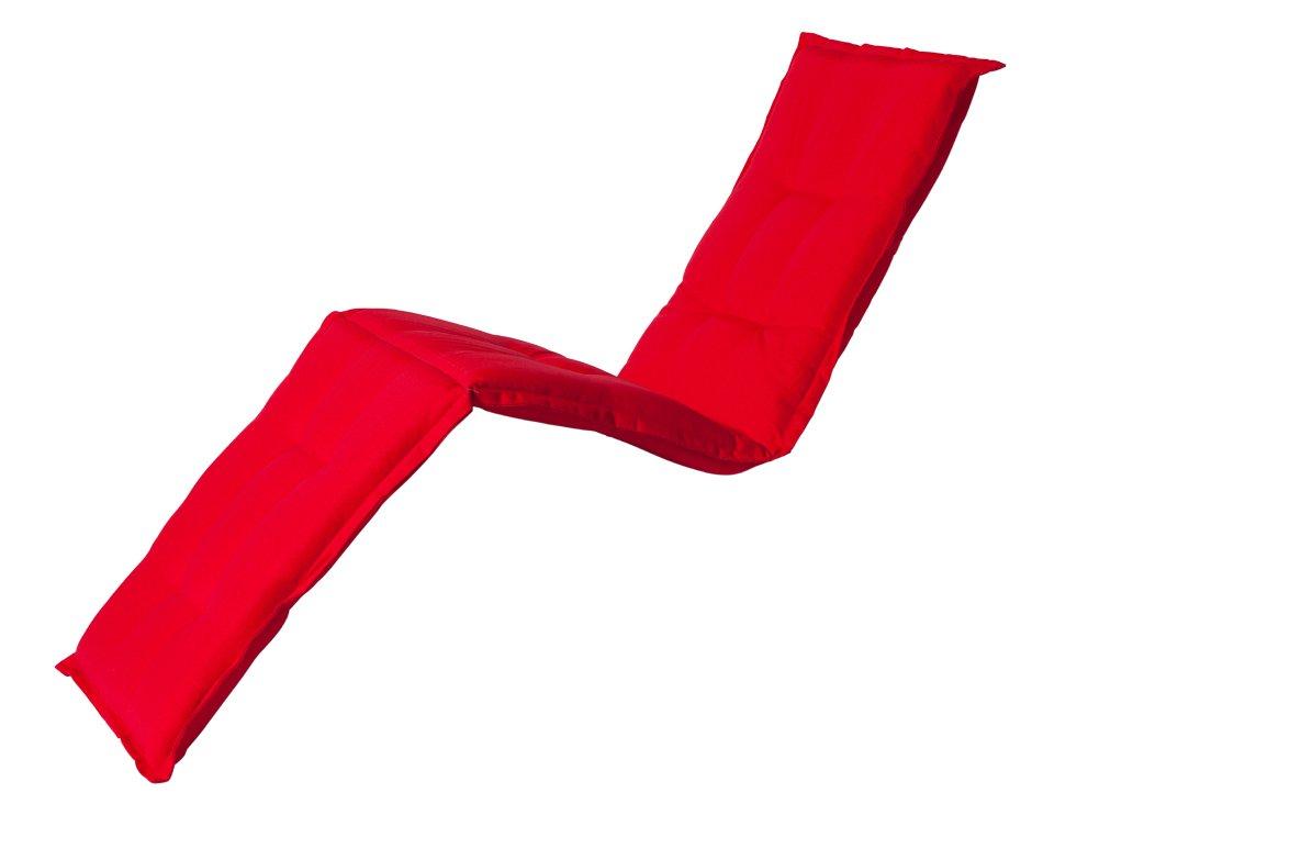 Madison 7LIGSB220 Auflage Panama für Liege, 75% Baumwolle 25% Polyester, 200 x 65 x 8 cm, rot