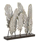 Deco 79 95239 Simple Metal Feather Décor, 20″ W x 21″ H Review