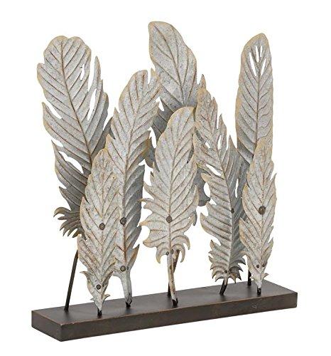 Deco 79 95239 Simple Metal Feather Décor, 20″ W x 21″ H Review