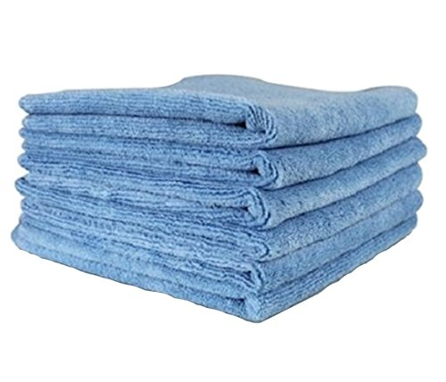 24 PACK NEW MICROFIBER TOWELS CLEANING TOWEL LIGHT BLUE 16