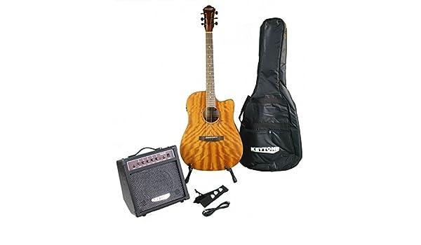 KEYTONE Guitarra Western Set Deluxe caoba & Amplificador y accesorios: Amazon.es: Instrumentos musicales