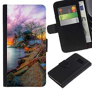All Phone Most Case / Oferta Especial Cáscara Funda de cuero Monedero Cubierta de proteccion Caso / Wallet Case for Sony Xperia Z3 Compact // Nature Fantasy Sunset